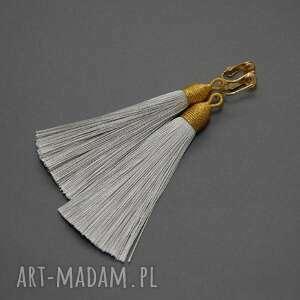 klipsy z chwostami sznurek, wyjściowe, wiszące, długie
