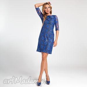 ręcznie wykonane sukienki ramona - sukienka chabrowa 38