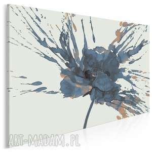 obraz na płótnie - kwiat mak granatowy 120x80 cm (67403)