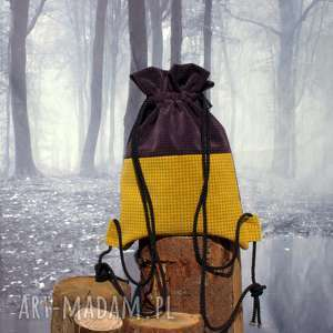 Plecak BBAG Capri, worek, plecak, torba, aksamitna, welurowa, zamszowa