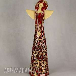 anioł eramiczny lampion, ceramiczny, ręcznie wykonany, lamion ceramika