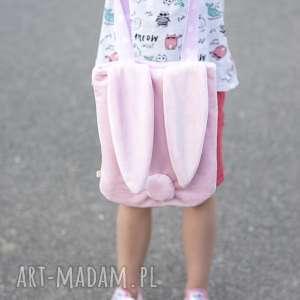 Torba króliś różowa, torba, uszy, króliki, minky, na-ramię, dla-dziewczynki