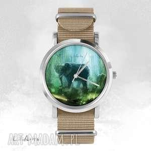 liliarts zegarek, bransoletka - słoń beżowy, nato, bransoletka