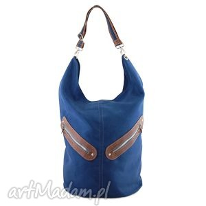 Kofi - duża torba worek granatowa na ramię incat worek, pojemna