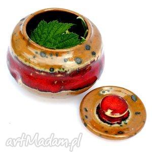 Miodźcu III - ceramiczny pojemnik , pojemnik, naczynie, ceramika, uzytkowe, unikatowe