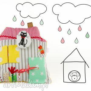 poduszka sensoryczna domek - poduszka, domek, sensoryczna, zabawka, pluszak, ozdoba