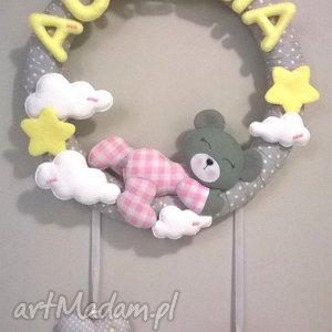 personalizowana girlanda z imieniem dziecka, girlanda, dekoracja, filc, dziecko