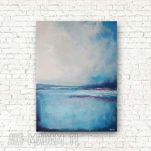 morze w kolorach blue-obraz akrylowy formatu 30/40
