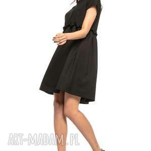 sukienki sukienka marszczona pod biustem, t266, czarny