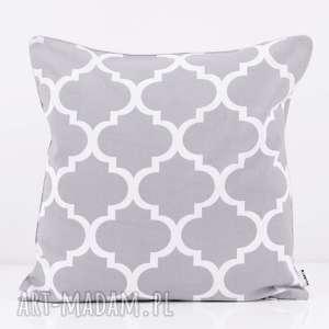 poduszka fresh grey 50x50cm od majunto, poduszka, poduszki, koniczyna, marokański