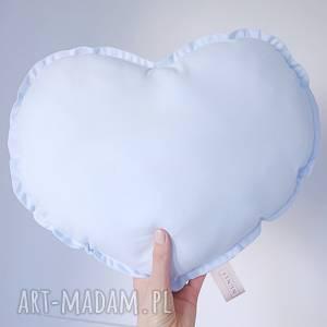 poduszka serce, niebieska poduszka, niebieskie błękitna