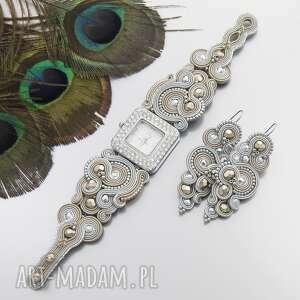 komplet renire sand soutache, zegarek, sutasz, stylowy, orientalny