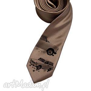 prezent na święta, krawat trabant, krawat, nadruk, śledzik