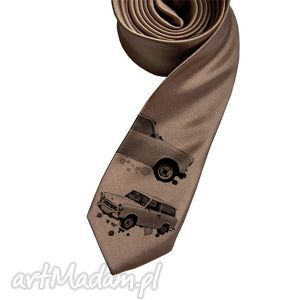 krawat trabant, krawat, nadruk, śledzik, prezent krawaty, na święta