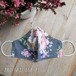 maseczka bawełniana kobieca kwiaty, bawelniana, maseczka, dla kobiety