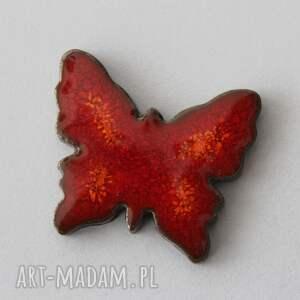 kopalnia ciepla motyl - broszka ceramiczna, kolor, minimalizm, design, wiosna