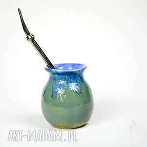 małe ceramiczne naczynie do yerba mate / matero handmade niebiesko