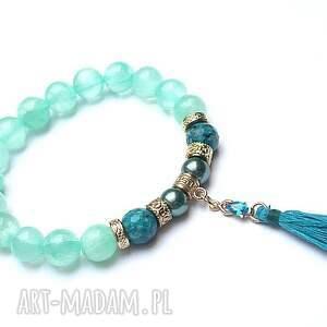 Blue lagoon vol. 12 /18.10.18/, marmur, jadeit, perły, majorka, chwost,