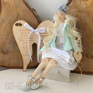 ręcznie zrobione lalki anioł pamiątka pierwszej komunii świętej chrztu