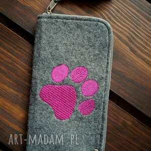 filcowe etui na telefon - łapka, futerał, pokrowiec, smartfon, psy, koty