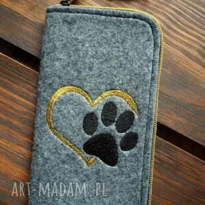filcowe etui na telefon - łapka, smartfon, pokrowiec, prezent, psi motyw, koci