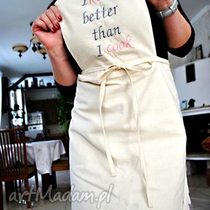 hand made fartuszek i kiss better than cook