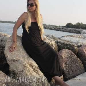 Sukienka na plażę, plażowa-sukienka, maxi-sukienka, minimalistyczna, boho-sukienka