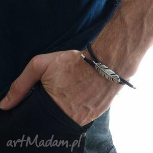 Bransoletka Farliso - Man , skóra, rzemienie, bransoletka, męska
