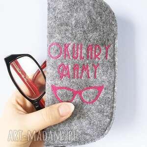 etui na okulary mamy, mama, mamusia, etui, okulary, filcowe, haft