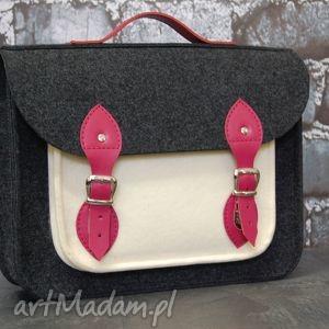 handmade filcowa torba na laptopa 15cali, dokumenty, aktówka do pracy, skórzane