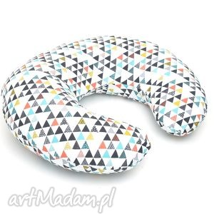 rogal do karmienia fasolka poduszka kolorowe trójkąty, poduszka, rogal, dla