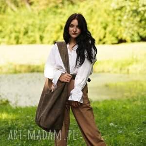 torebki brązowa torba hobo w stylu boho / long boogi bag - do noszenia przez