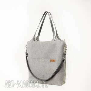 duża torba - szary z grafitowym, torba, dużą shoperka, torebką na ramię