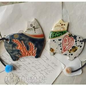 wylegarnia pomyslow koty magnesy v, ceramika, magnes, kot, serce