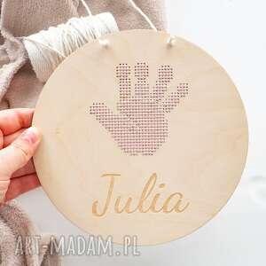 handmade pokoik dziecka proporczyk, metryczka - rączka haftowana