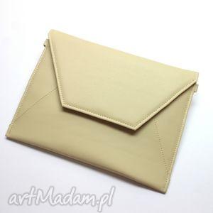 kopertówka - jasny beż, elegancka, nowoczesna, wieczorowa, prezent, wesele