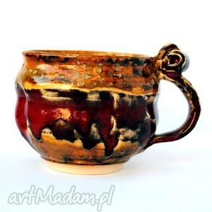 ceramiczny kubek - jt nr99, kubek, naczynie, ceramika, unikat, użtkowe, spożywcze