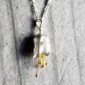 925 srebrny łańcuszek mini dzwoneczek - zawieszka, srebro, natura