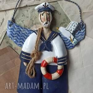 ceramika aniołek marynarz, ceramika, anioł, kołoratunkowe, mewa