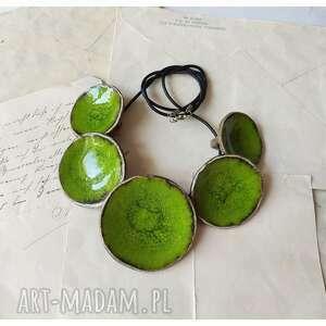 naszyjnik niecki zieleń wielkanocna, ceramika