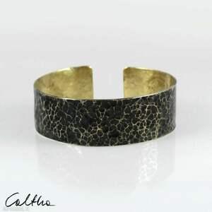 caltha lawa - mosiężna bransoleta 210605-05, bransoletka, w kolorze