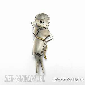 Szykowna dama - broszka srebrna, srebro, broszka, oksyda, dama, biżuteria, venus