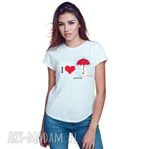 hand-made koszulki licencjonowana koszulka damska muminki i love