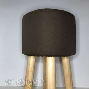 pufa mleczna czekolada - 45 cm, puf, taboret, hocker, vintage, puff, stołek