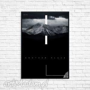 Prezent Grafika another place, grafika, minimalizm, obraz, ramka, prezent, góry