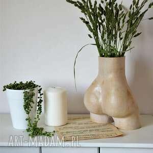 intrygujący wazon dekoracyjny pupa, ceramika, wazon, ozdoba, prezent