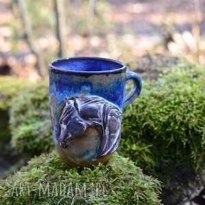 ręcznie wykonane kubki handmade ceramiczny duży kubek z koniem - opal 400
