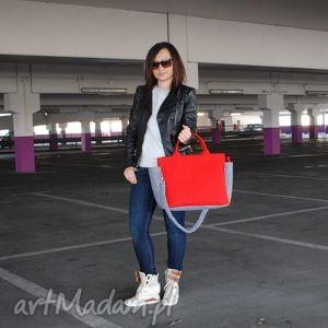 ręcznie robione na ramię g-felt elegancka torba do ręki czerwień