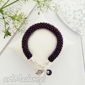 grape, bransoletka, koralikowa, beading, beadwork, bead crochet, pod choinkę