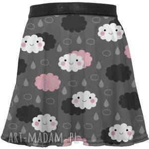 ręcznie robione ubranka spódnica dla dzieci ze wzorem moody weather